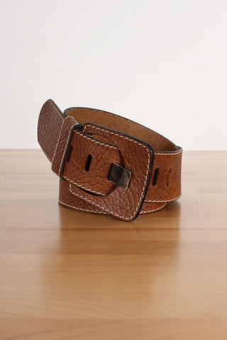 Redwood Carved Leather Belt
