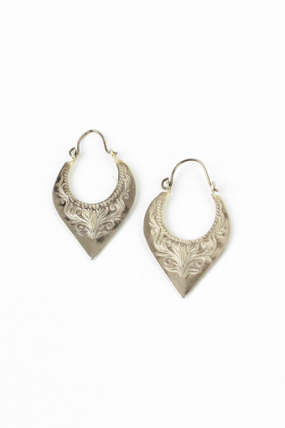 Etched Point Earrings