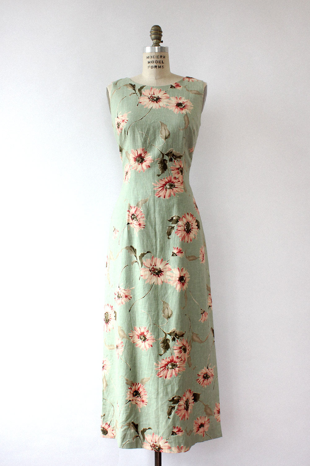 Sage Daisy Fitted Dress M