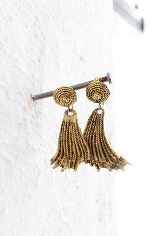 Trompe L'Tassel Clip Earrings
