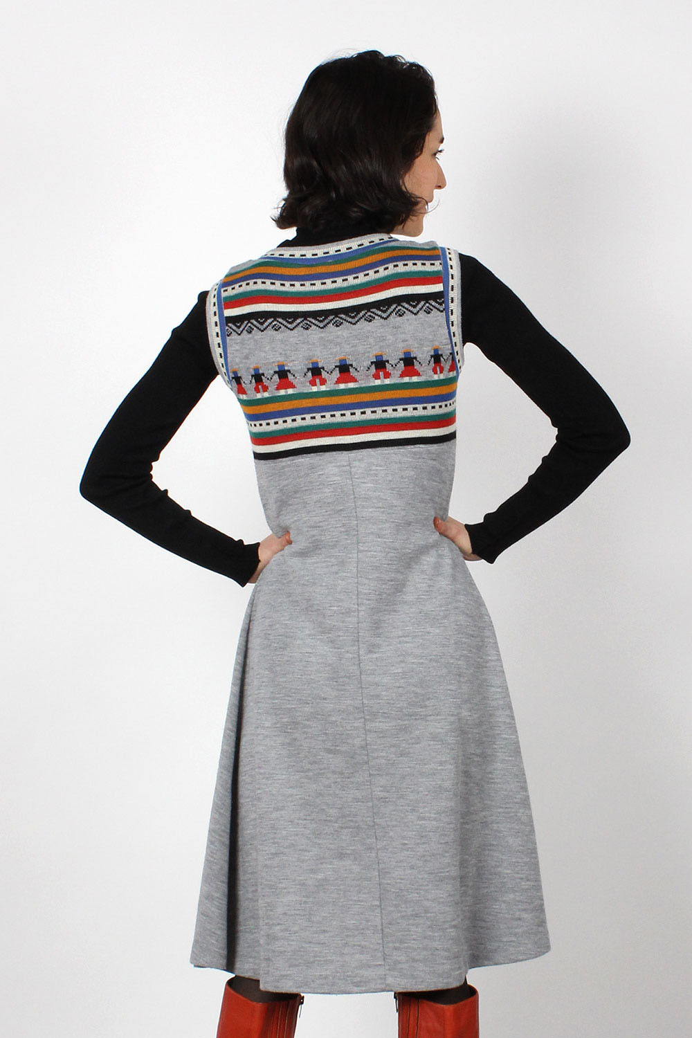 Heather Folk Knit Dress XS-M