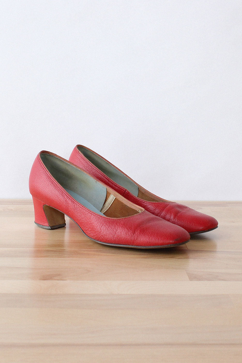 Brick Red Leather Heels 7 1/2