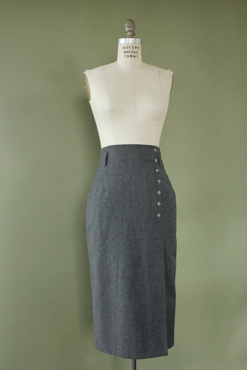 Mondi Structured Charcoal Skirt S