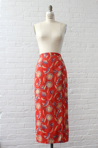 Splash Print Pleat Skirt S