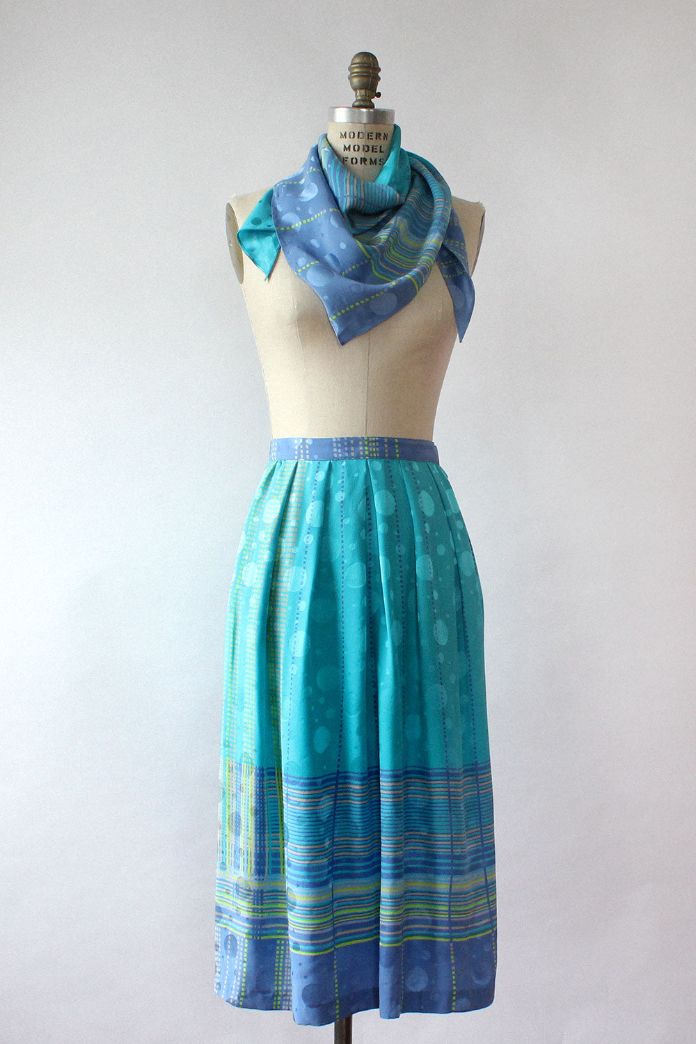Anne Crimmins Silk Skirt & Scarf Set S/M