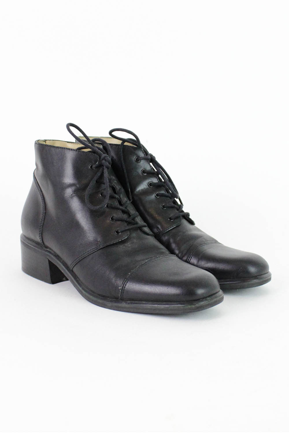 Black Lace Up Ankle Boots 7.5