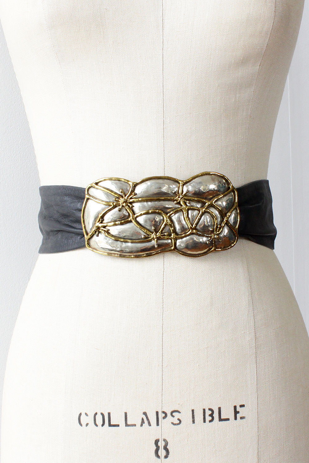 Brutalist Mixed Metal Belt
