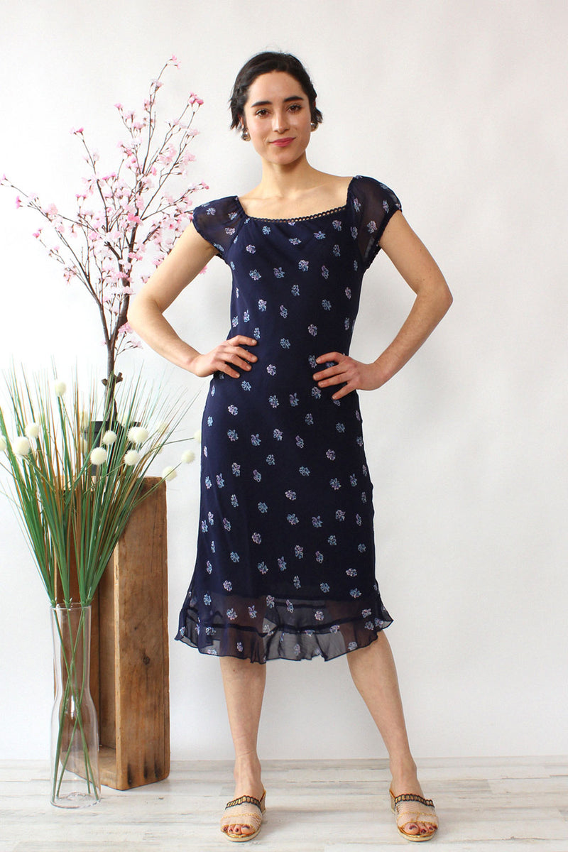 Blue Bouquet Bias Cut Dress XS/S
