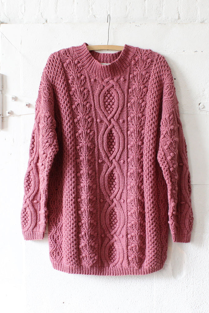 Dusty Rose Sweater Dress