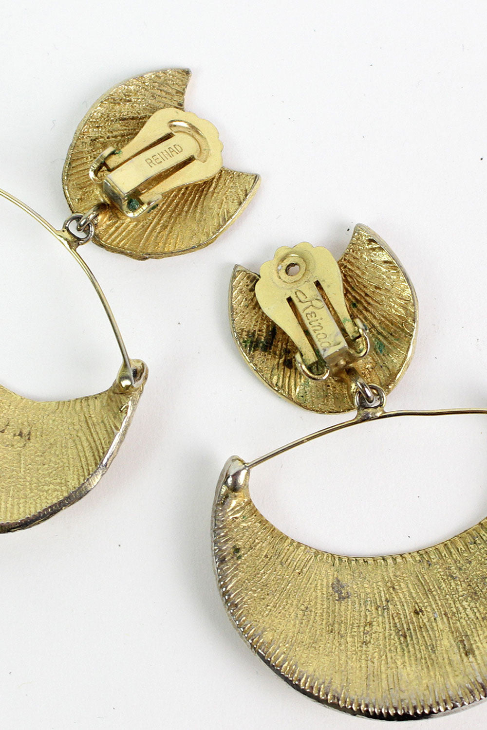 70s Brass Renaid Earrings