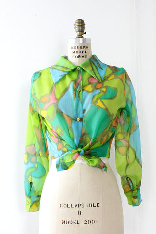 Lime Rock Sheer Blouse