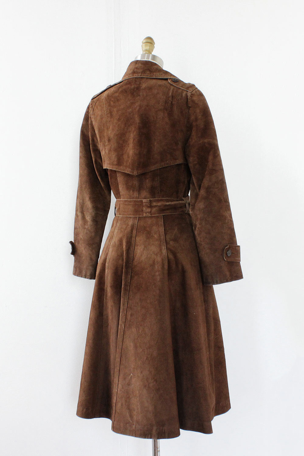 Suede Princess Trench Coat S