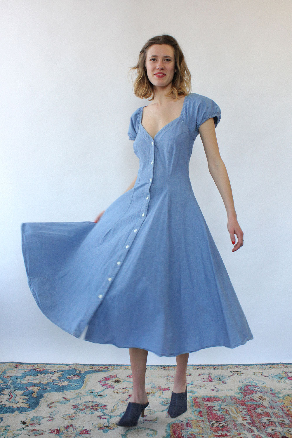 Chambray Princess Dress M