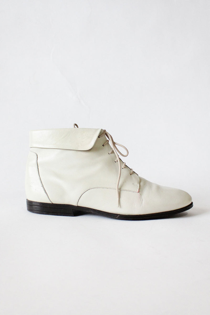 Cream Ankle Boots 7