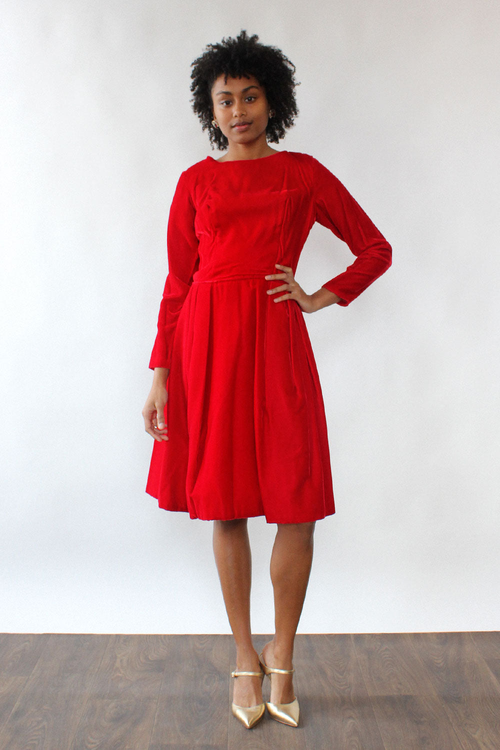 Ruby Red Velvet Dress M/L