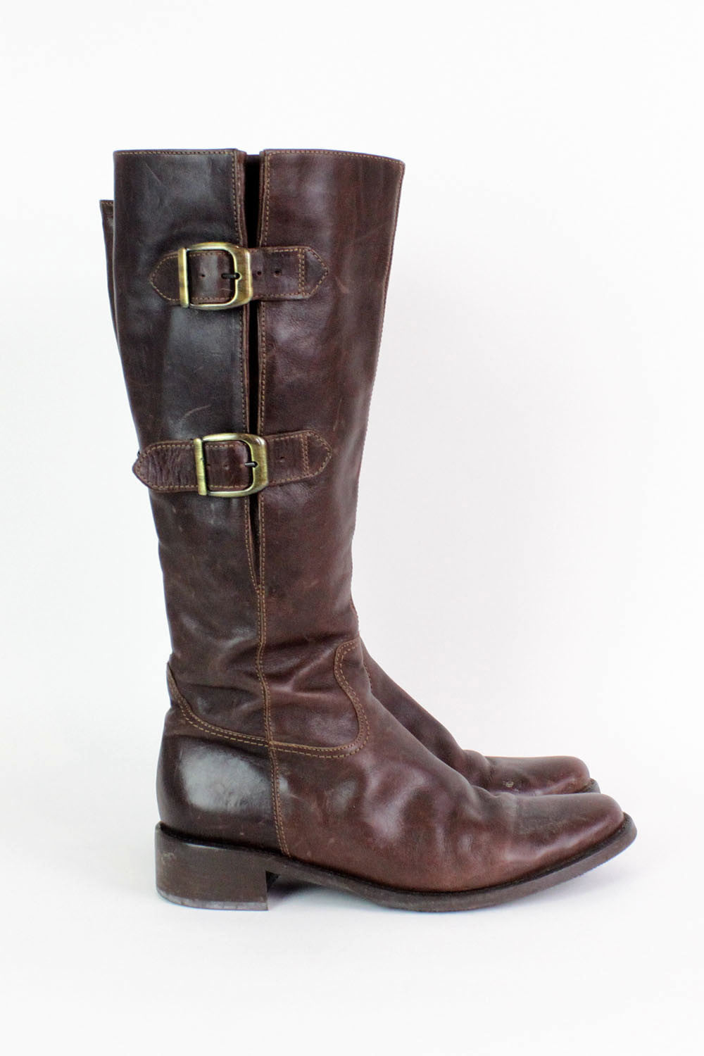 Buckled Leather Boots 8