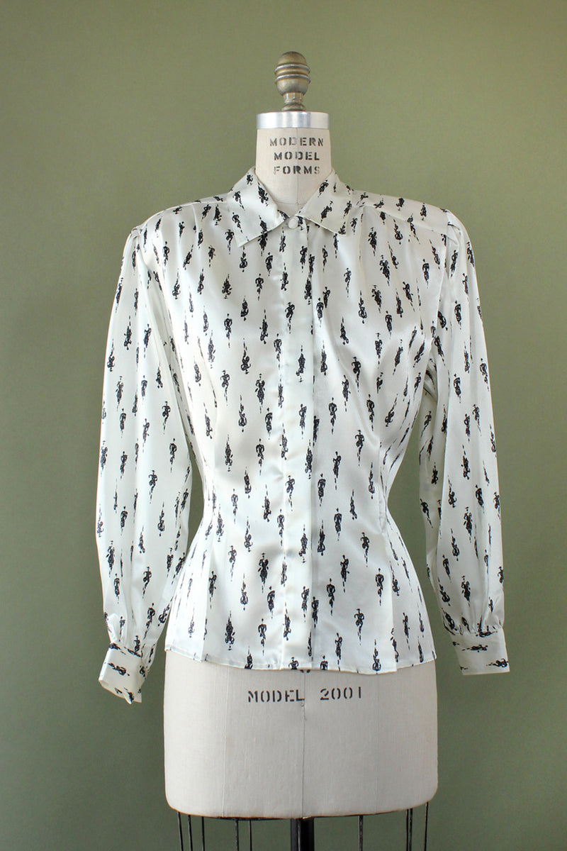 Notations People Print Blouse M/L