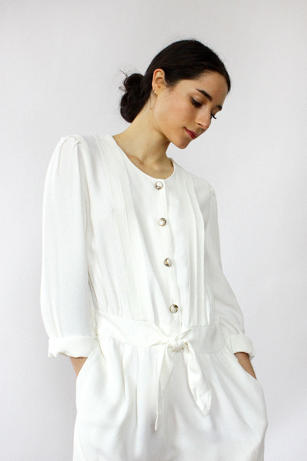 Cool Cream Jumpsuit M
