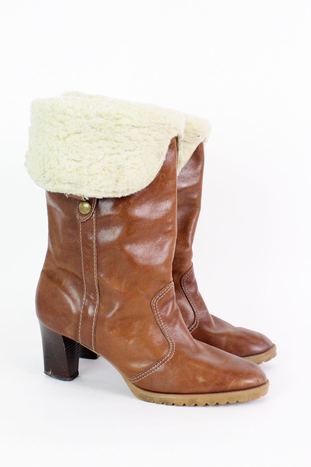 Heeled Sherpa Boots 8