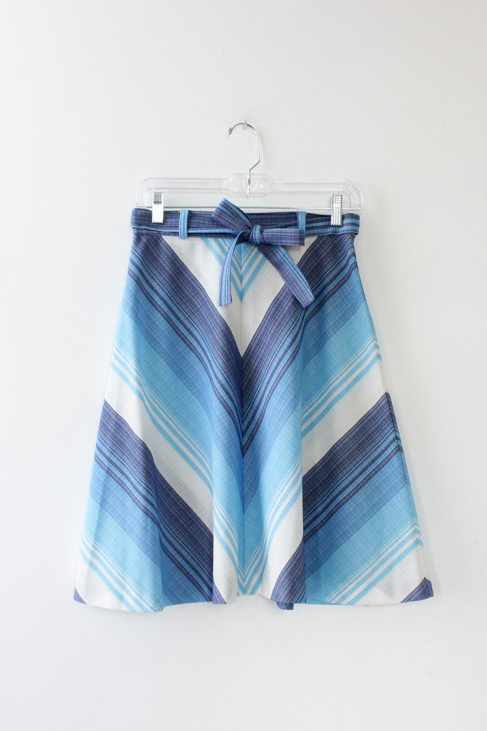 Shades of Blue Chevron Skirt S