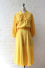 Bumblebee Silky Belted Dress M/L