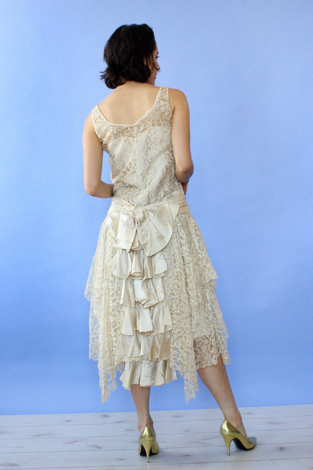 1920s Juliette Lace Dress XS