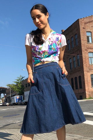 Berry Peasant Skirt S/M