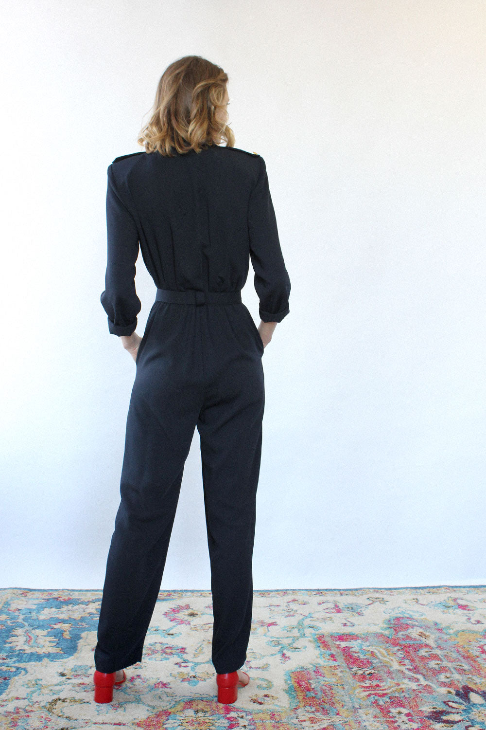 Navy Studio Jumpsuit S/M