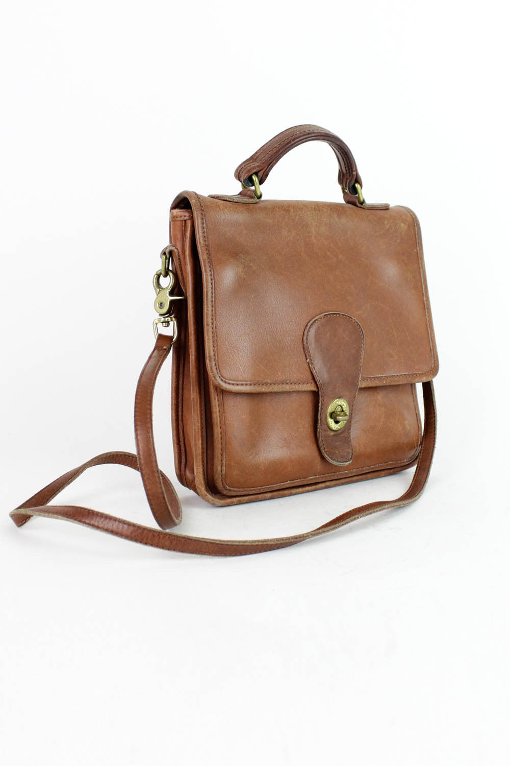 chestnut brown coach bag