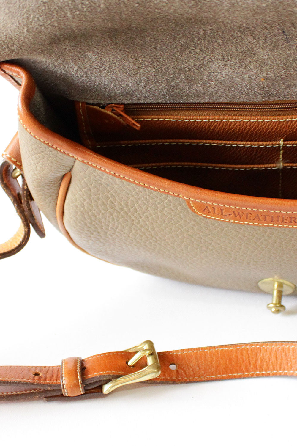 Dooney & Bourke Taupe Saddle Bag