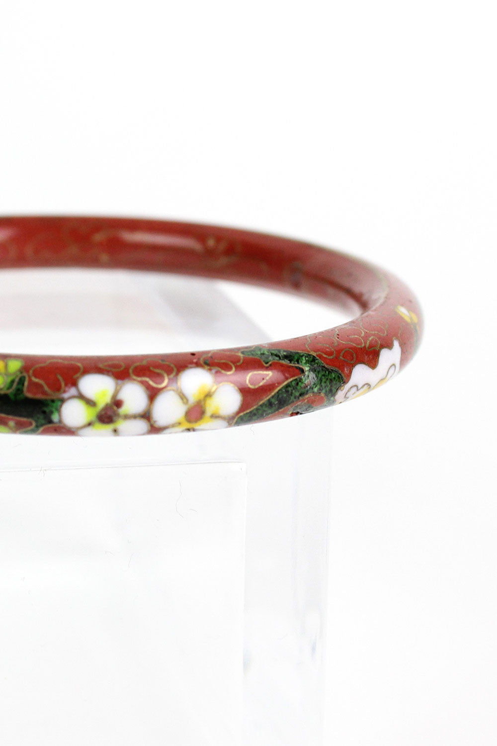 Crimson Cloisonne Bangle