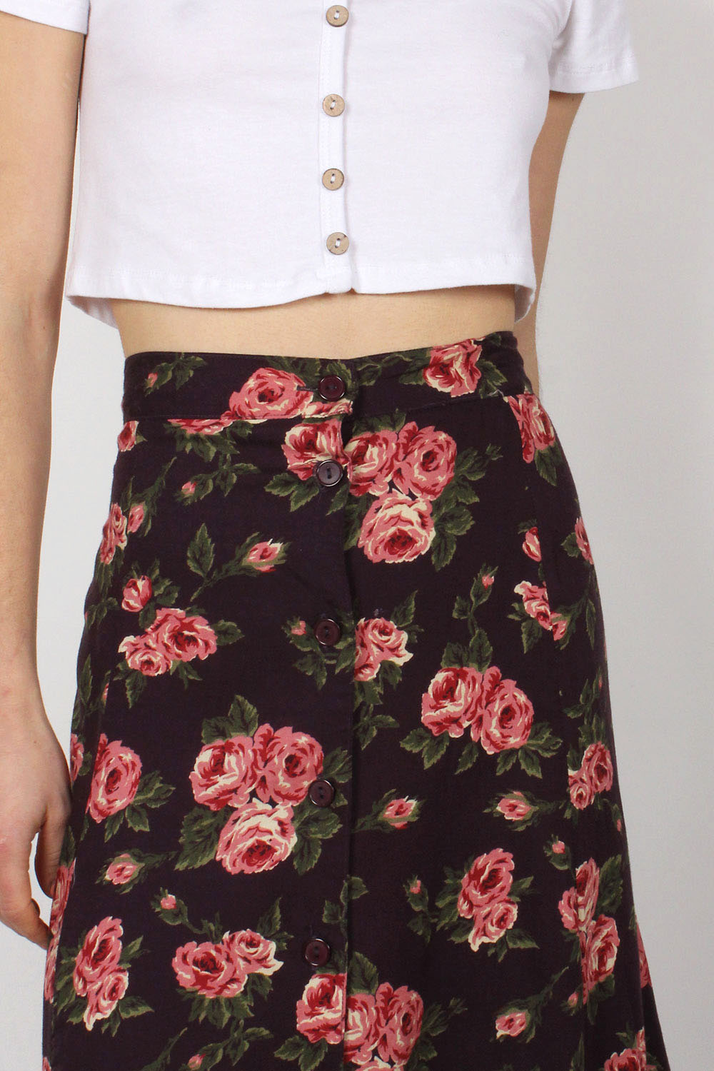 Phoebe Tea Floral Skirt L
