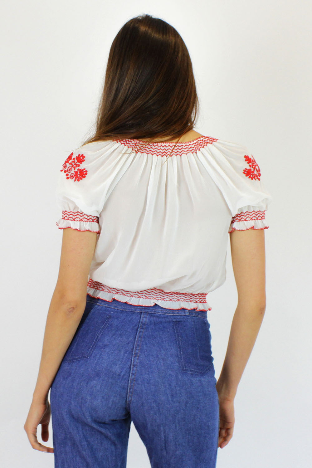 Hungarian folk blouse XS