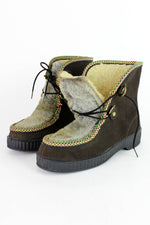 70s Faux Fur Winter Boots 9