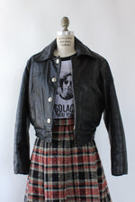 Taylor Moto Snap Crop Jacket S/M