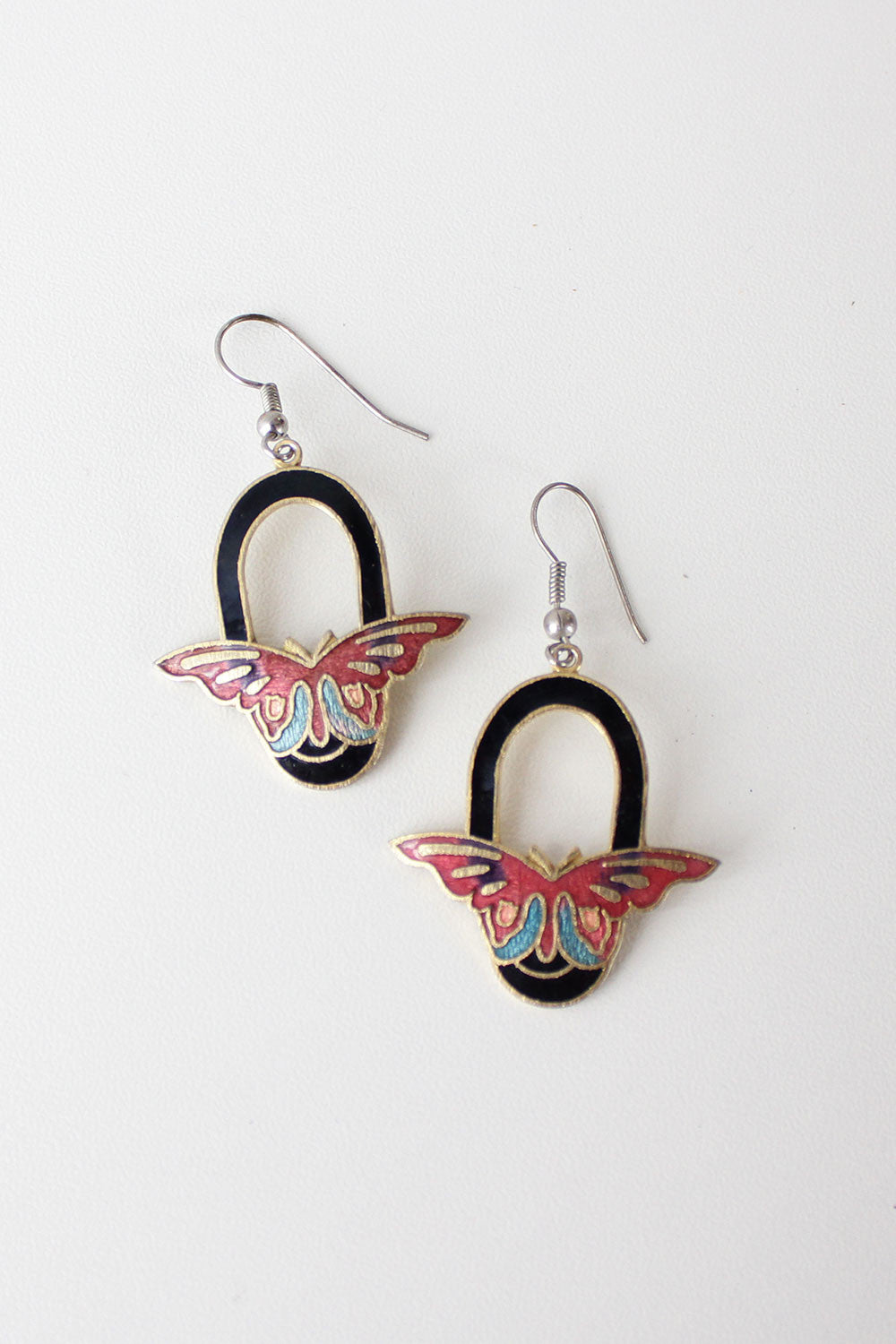 Butterfly Away Enamel Earrings