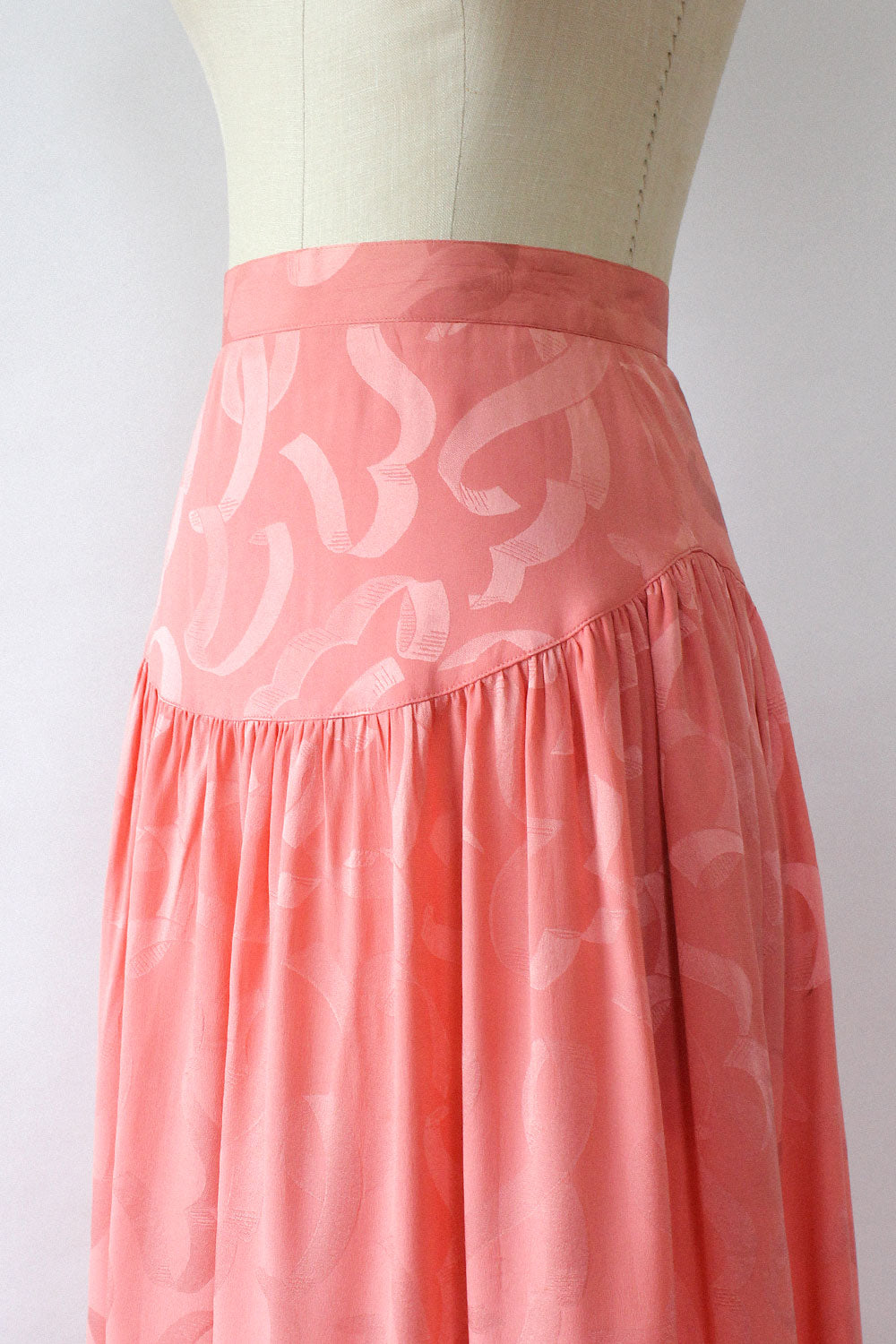 Flamingo Pink Silk 2 pc Set S/M