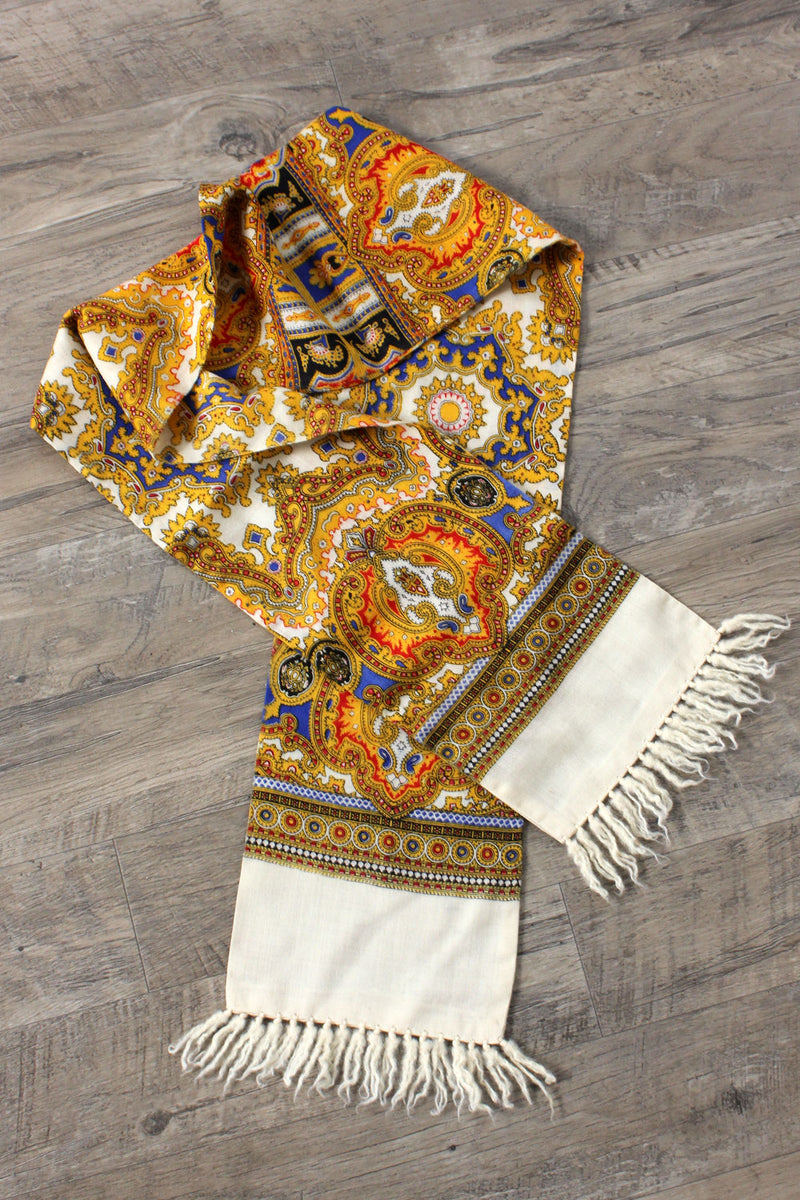 Royal Cream Paisley Scarf