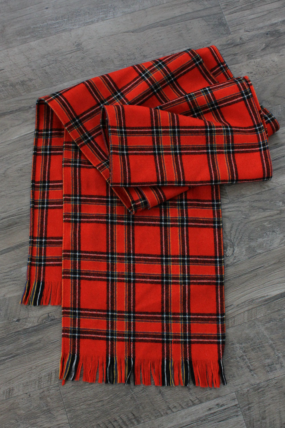 Persimmon Plaid Scarf