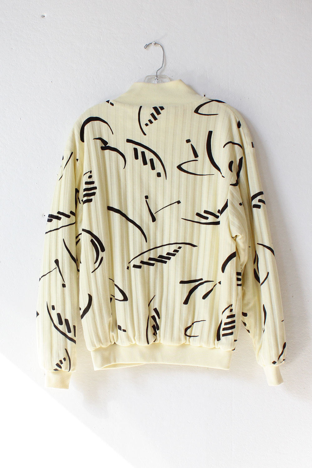 Calligraphy Knit Bomber S