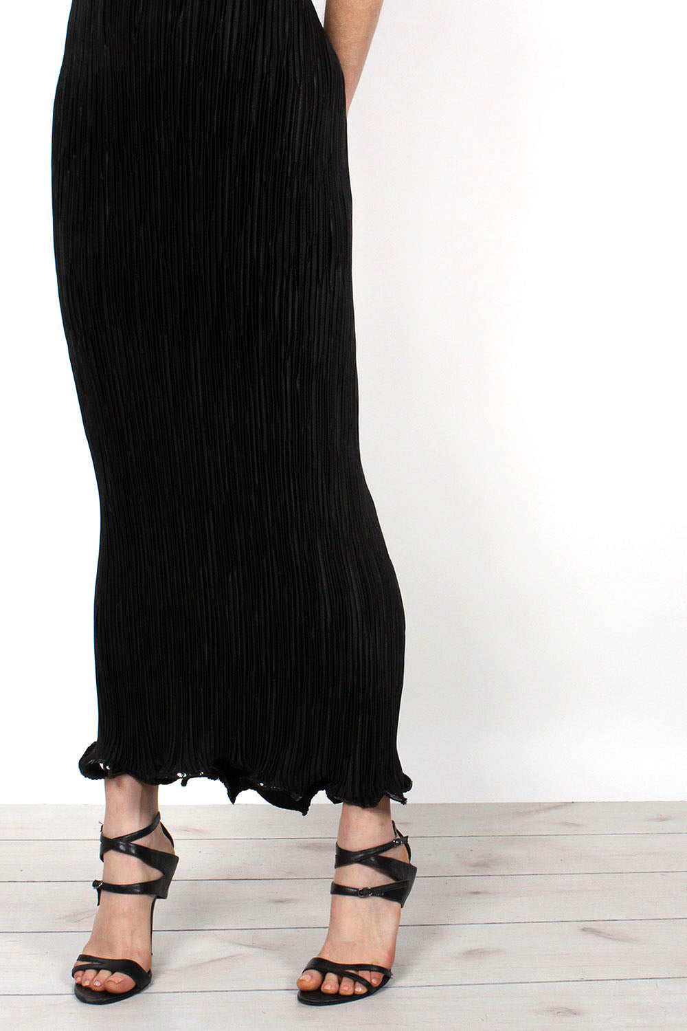 Birgitta Pleated Column Dress XS-M
