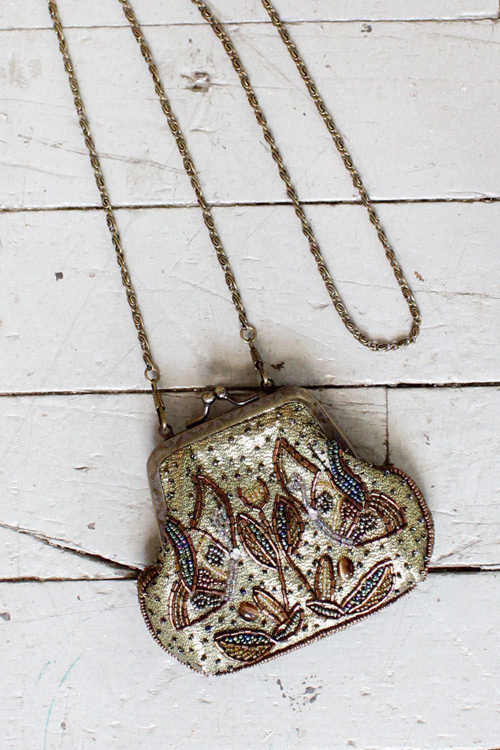 Bronze Beaded Purse