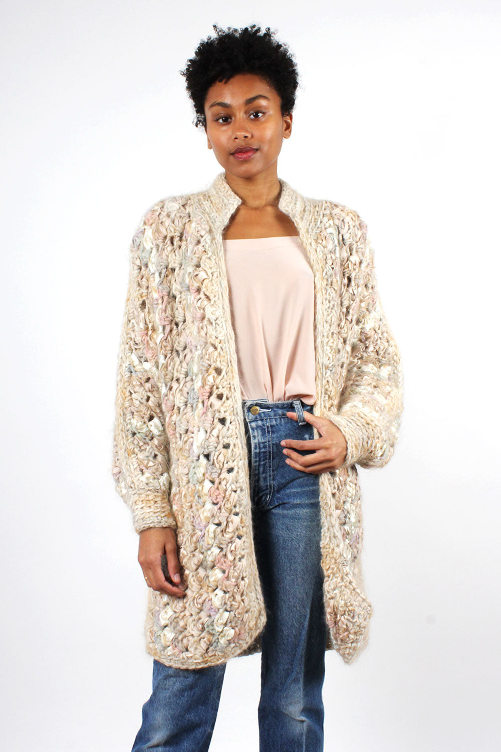 Estelle Textural Blush Sweater Coat S-L