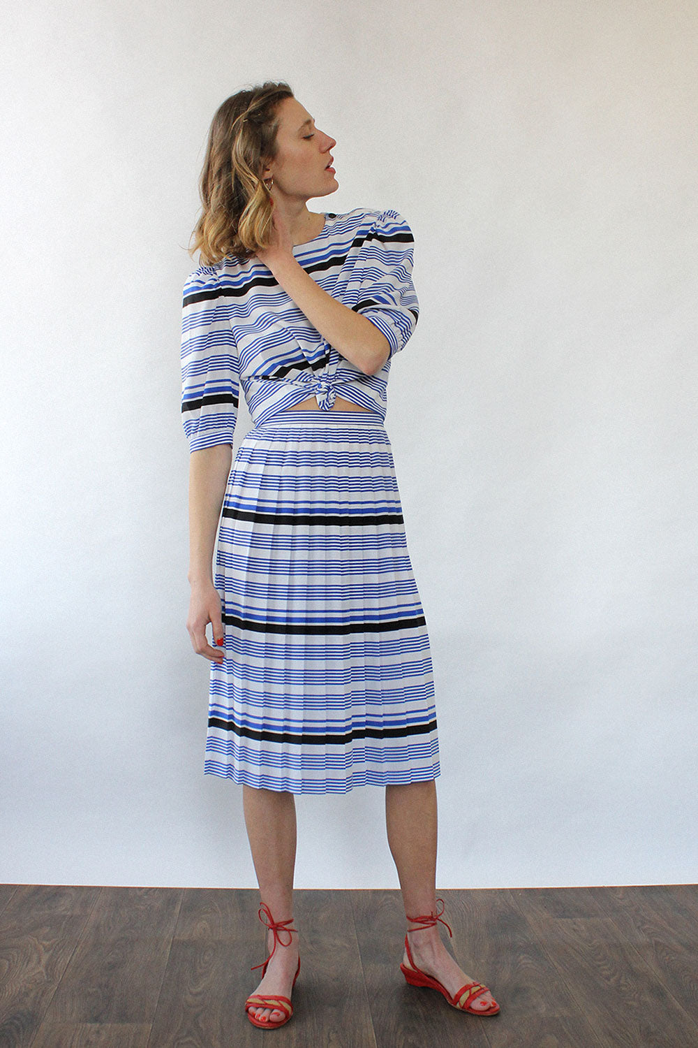 Striped Two Piece Set M