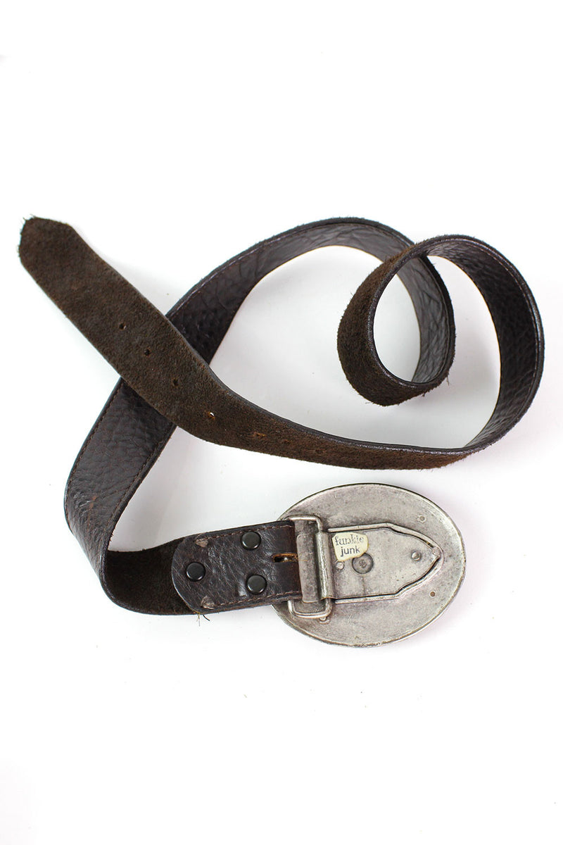 Earthy Stone Buckle Belt