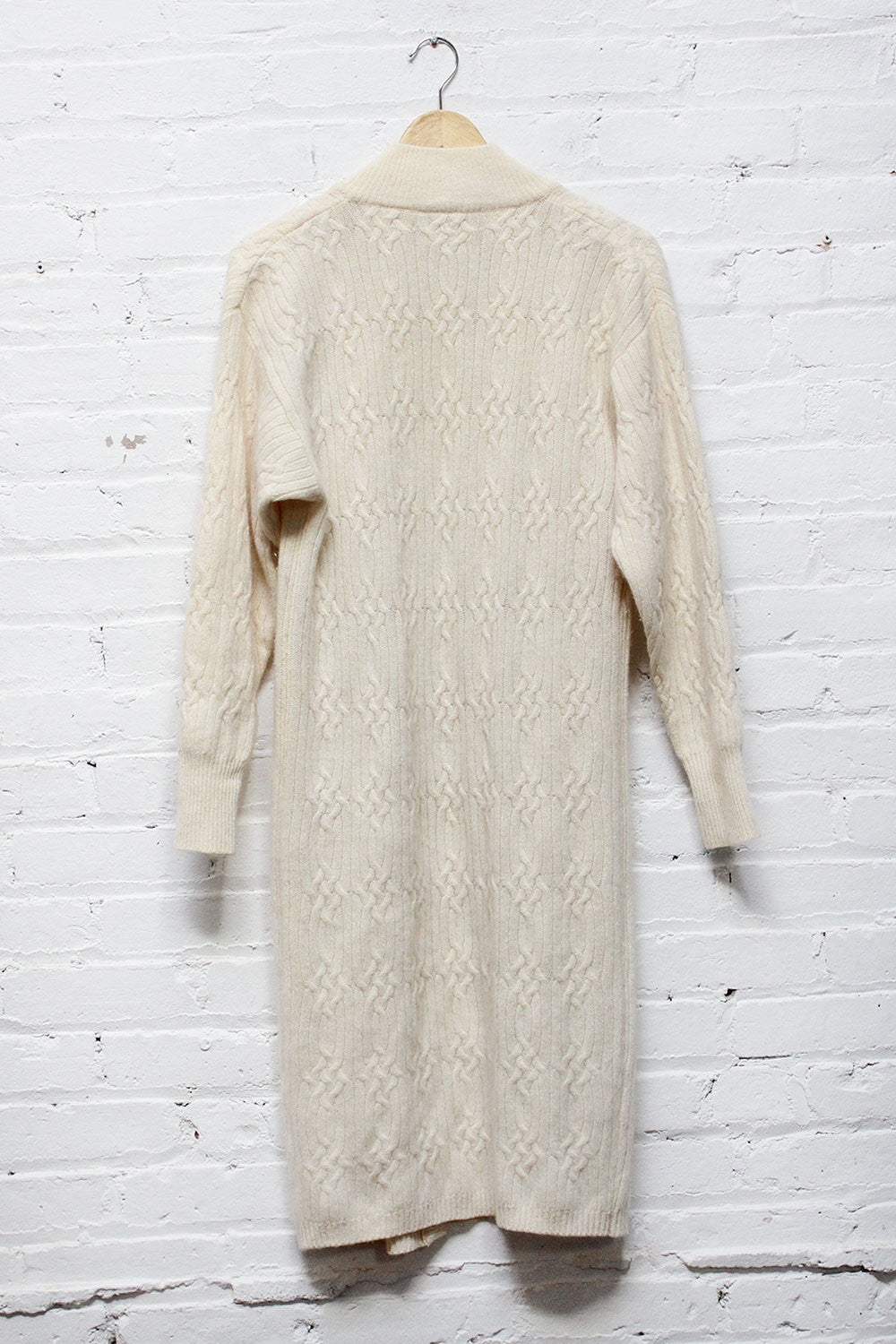 Cable Knit Snowy Cardigan Dress S