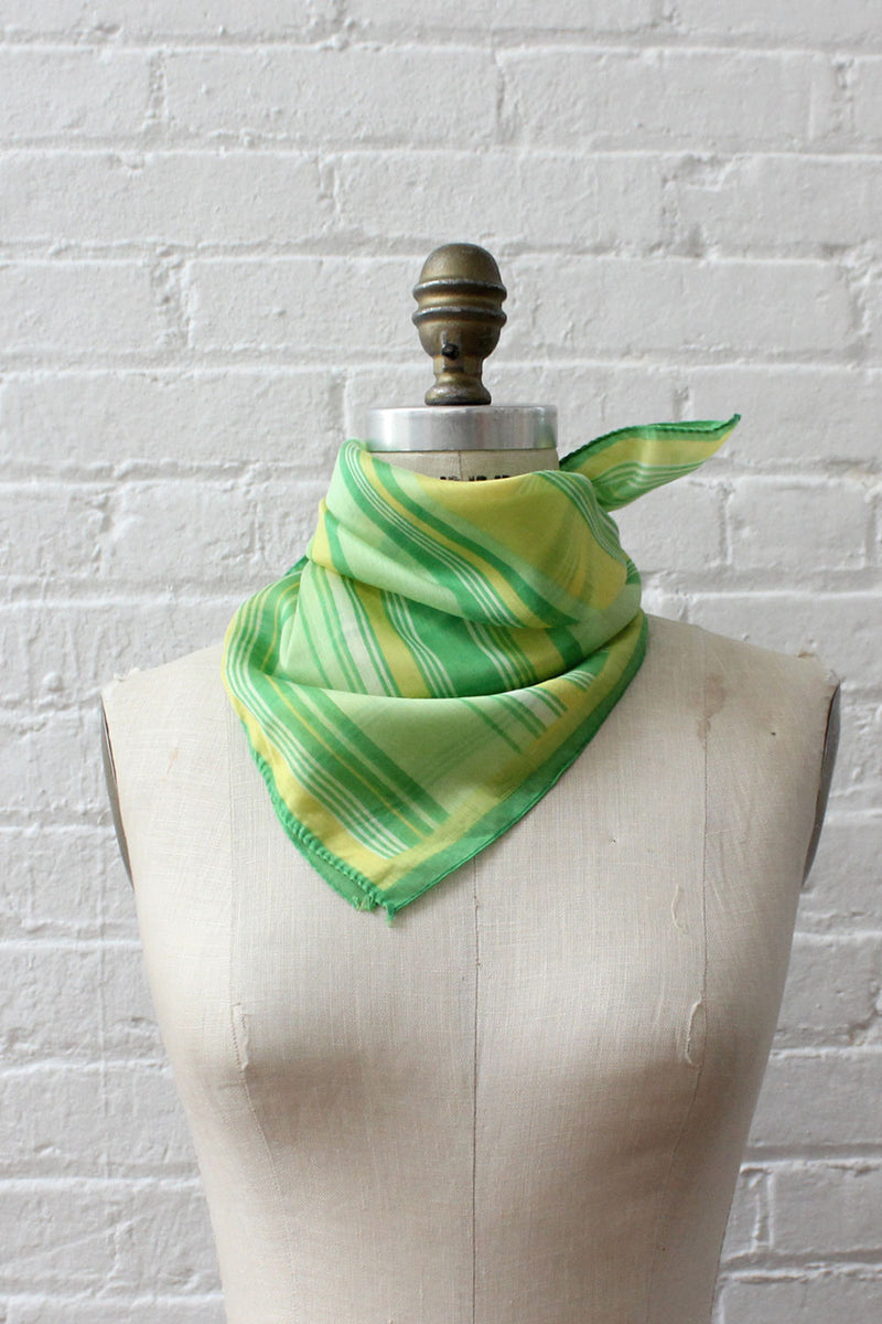Lime Stripe Kerchief