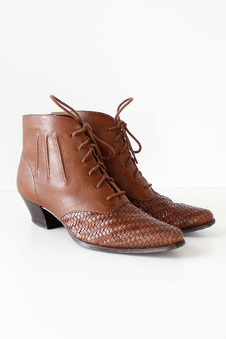 Nicole Woven Ankle Boots 6 1/2