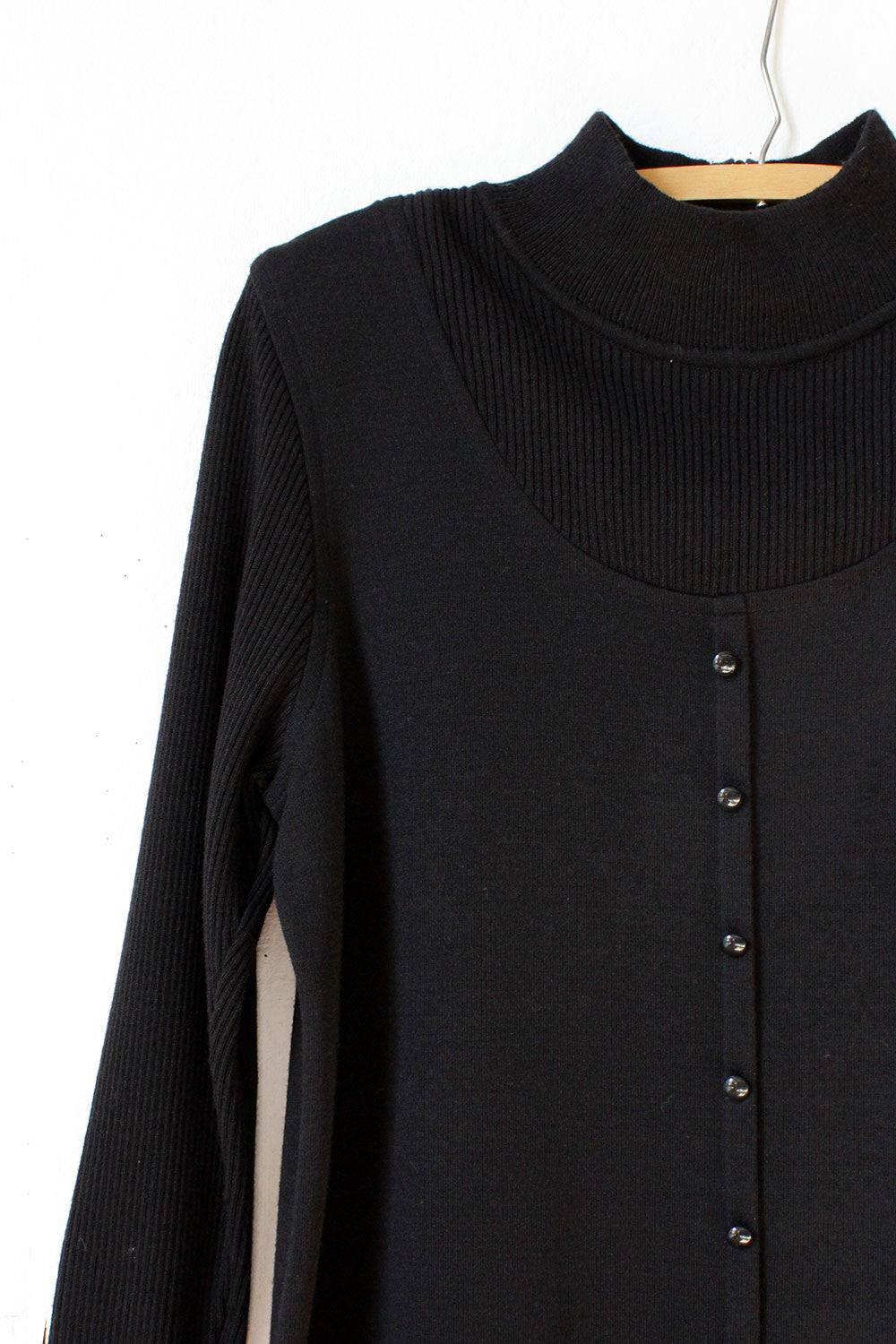 Black Layered Sweaterdress L