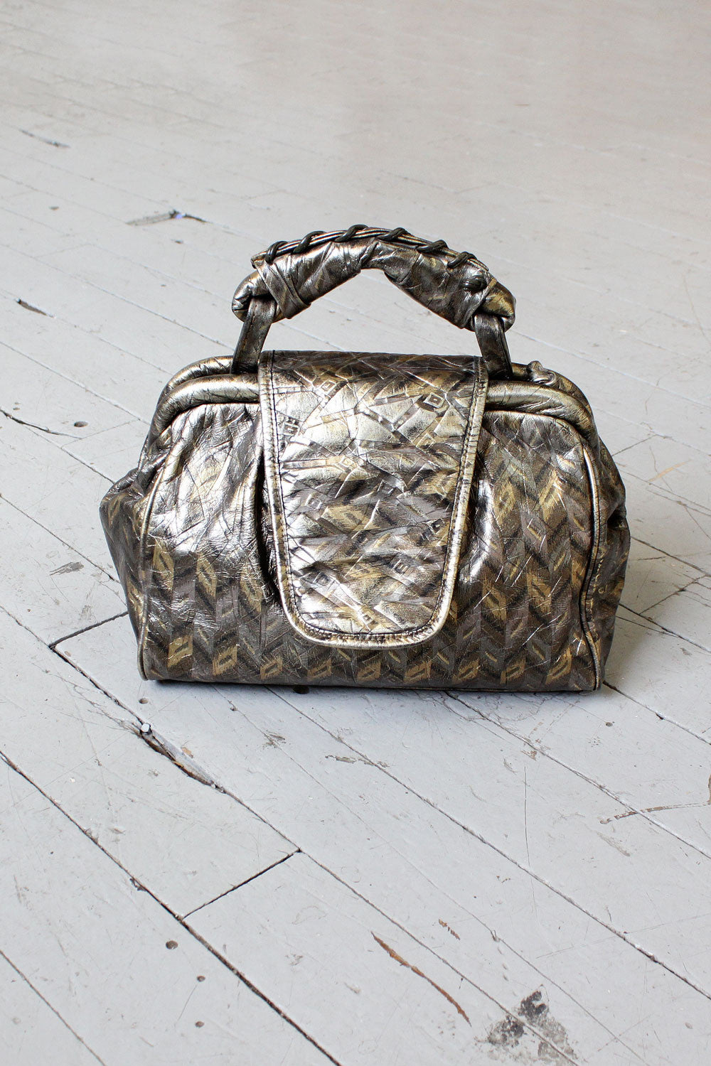 Chrystie Metallic Satchel